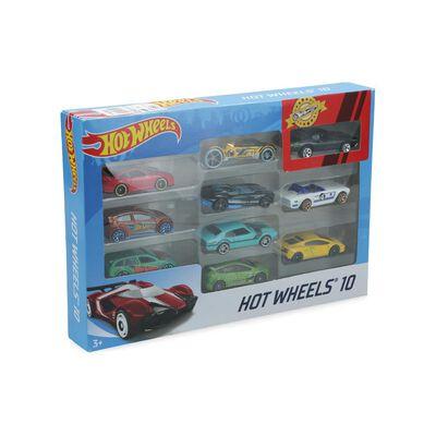 Auto De Juguete Hotwheels Surtido Pack 10 Vehiculos