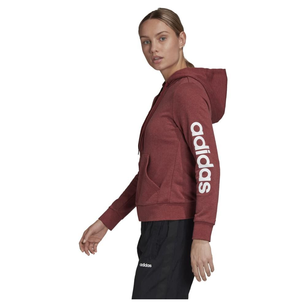 Poleron Deportivo Mujer Adidas Essentials Linear Full Zip image number 1.0