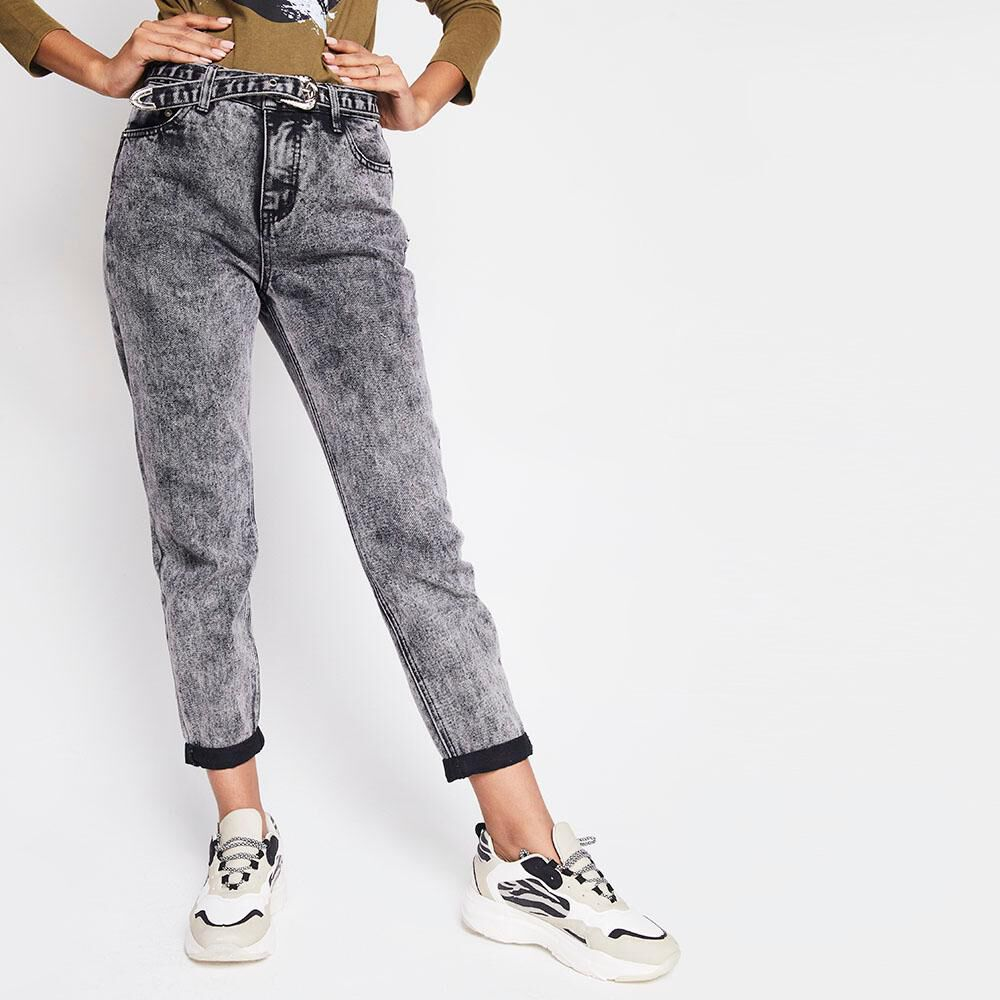 Jeans Mujer Tiro Medio Recto Rolly go image number 0.0