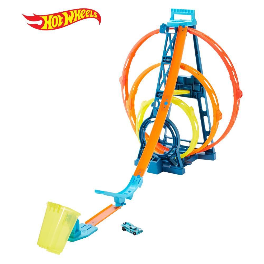Autopista De Juego Hotwheels Track Builder Kit Triple Loop image number 0.0