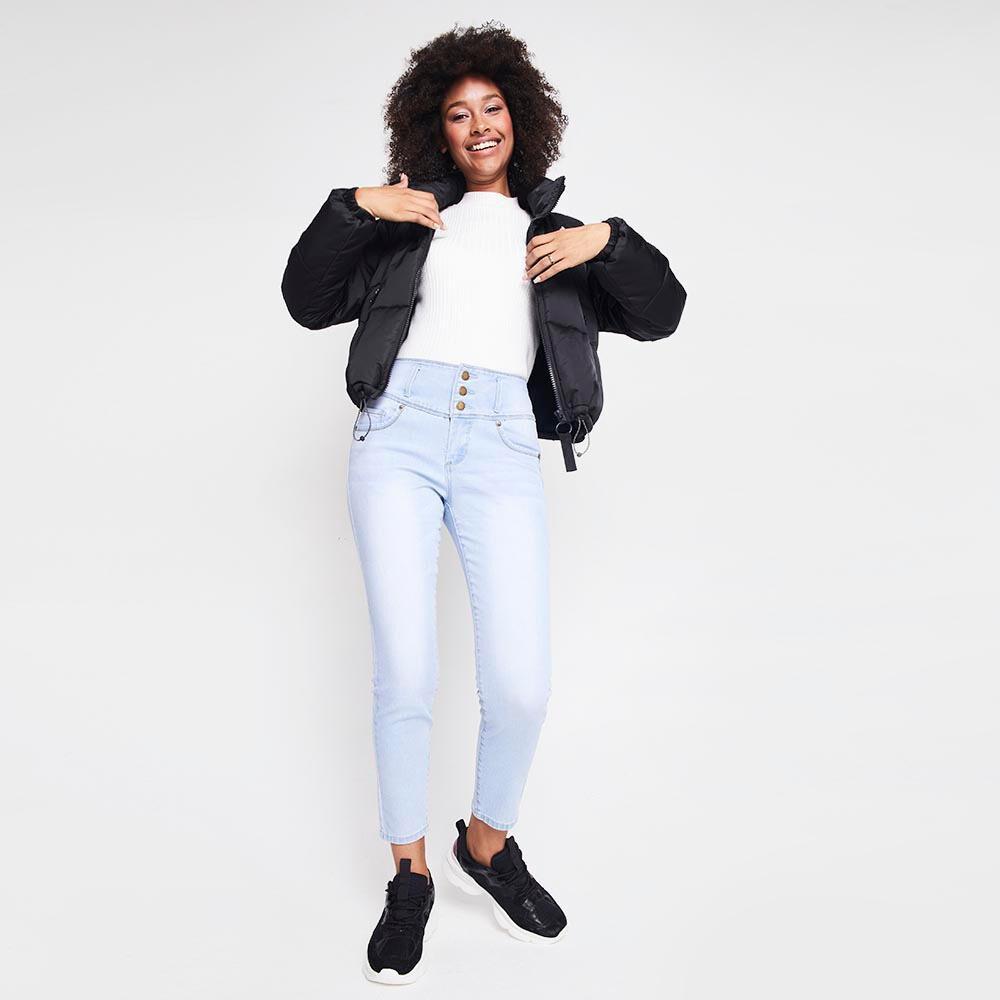 Jeans Mujer Tiro Alto Skinny almohadillas Rolly go image number 1.0