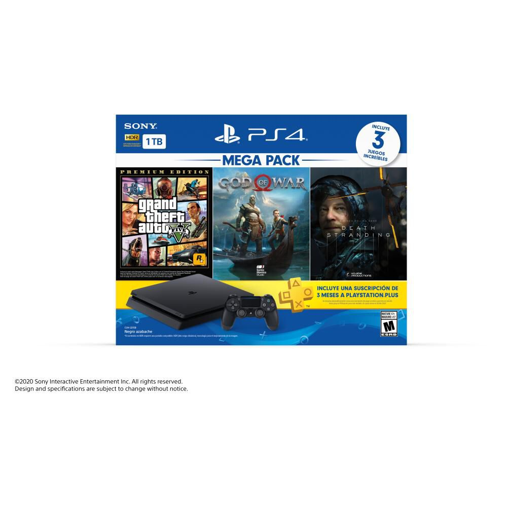 Mega Pack 13 Sony Ps4 Slim 1 TB image number 4.0