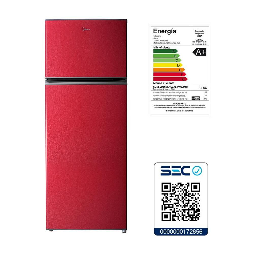 Refrigerador Midea MRFS-2100R273FN / Frío Directo / 207 Litros image number 5.0