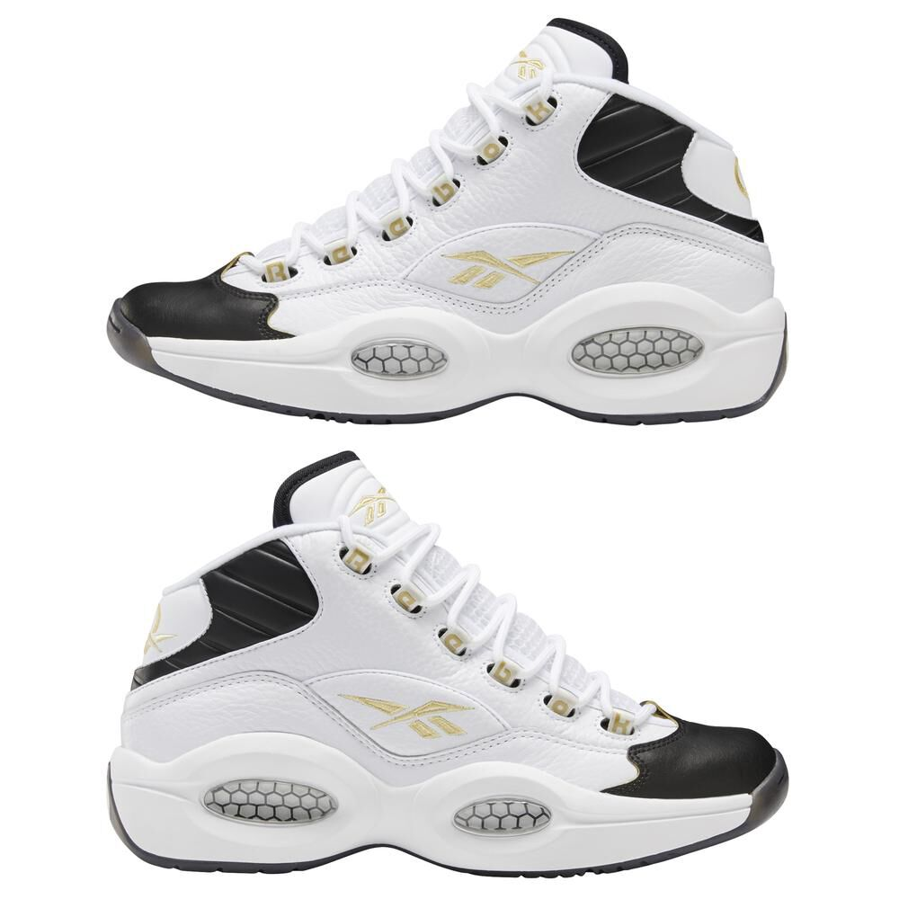Zapatilla Basketball Hombre Reebok Question Mid Black Toe image number 4.0