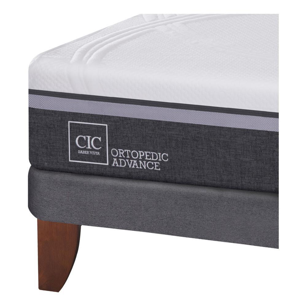 Cama Europea Cic Ortopedic Advance / 1.5 Plazas / Base Normal + Set de Maderas Espresso image number 4.0