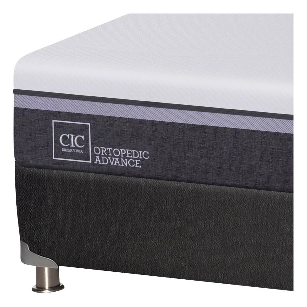 Box Spring Cic Ortopedic Advance B5 / 2 Plazas / Base Normal + Set de Maderas Legno image number 4.0