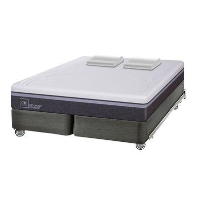 Box Spring Cic Ortopedic Advance / King / Base Dividida + Almohadas Viscoelásticas