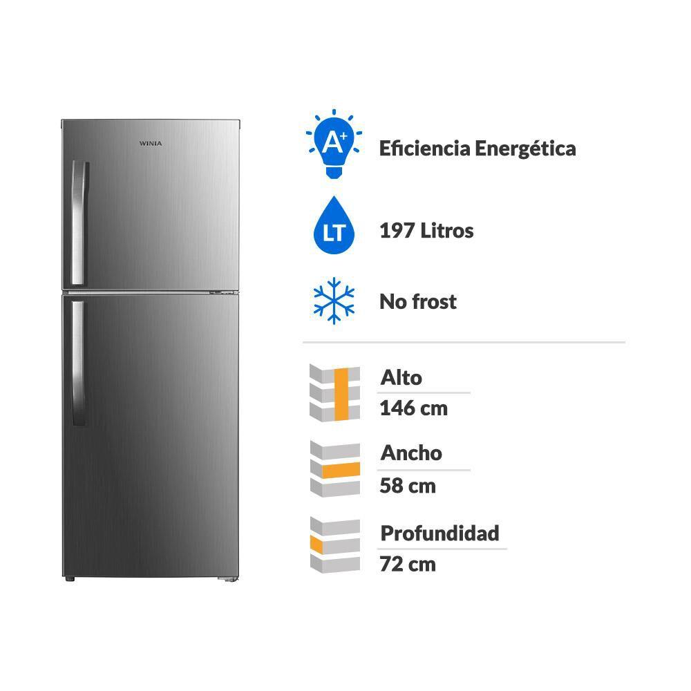 Refrigerador Top Freezer Winia TMF FRT-220 / No Frost  / 197 Litros image number 1.0