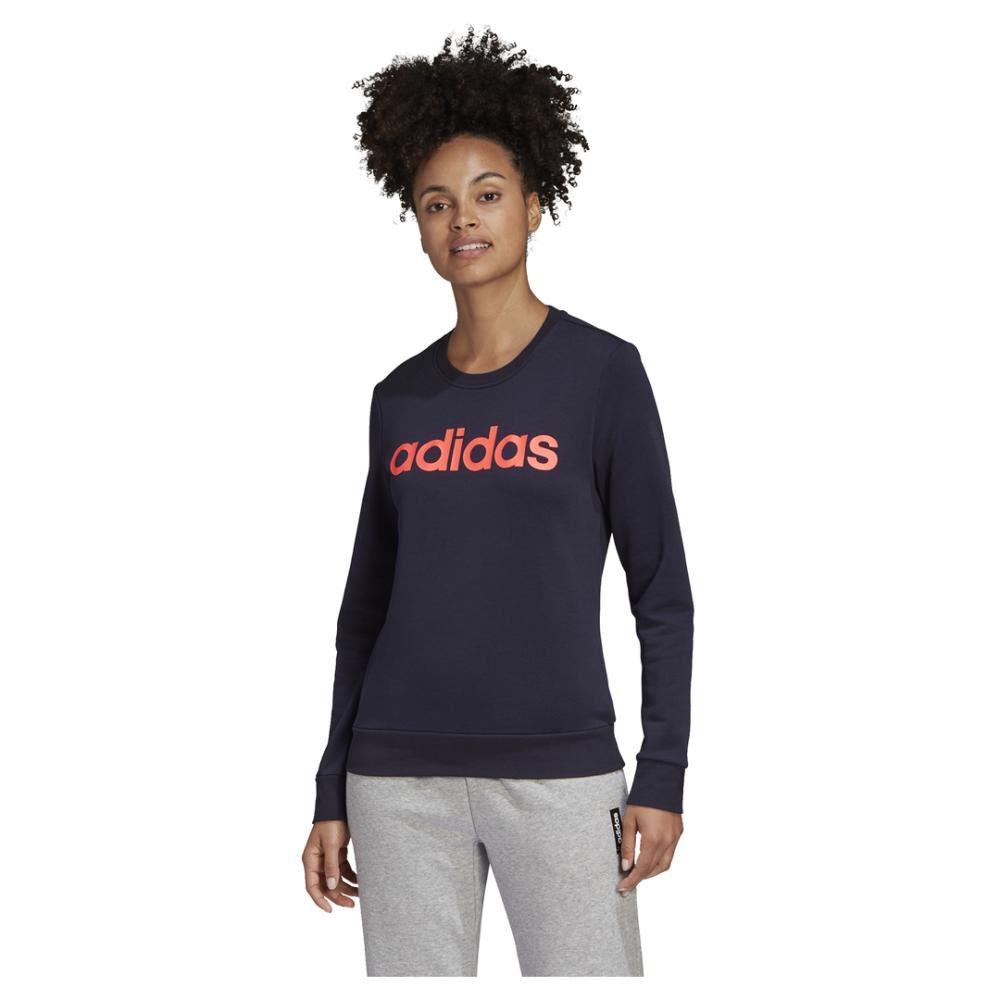 Polerón Deportivo Mujer Adidas Essentials Linear Crewneck image number 0.0