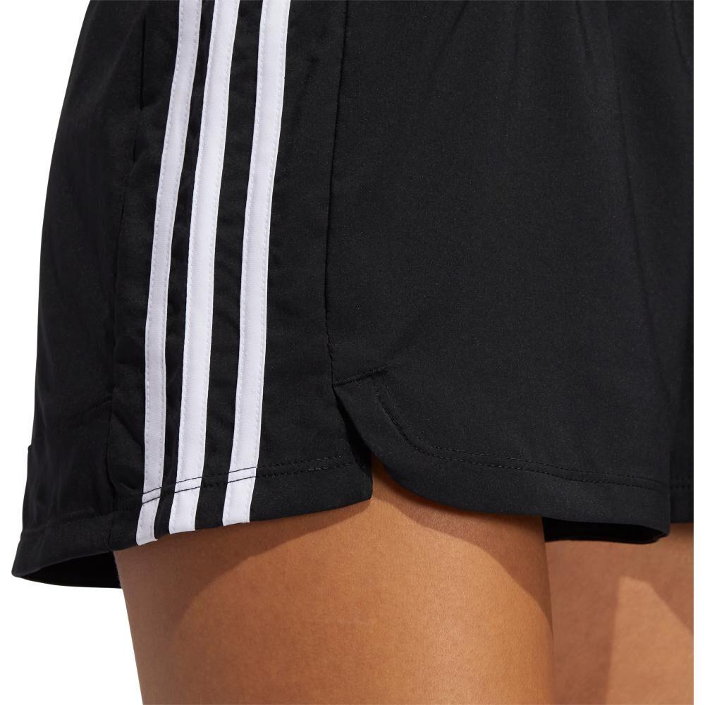 Short Deportivo Mujer Adidas Woven Pacer 3 Bandas image number 3.0