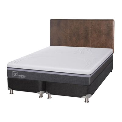Box Spring Cic Ortopedic / King / Base Dividida  + Respaldo