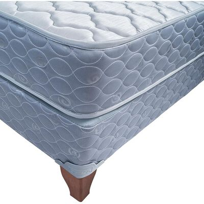 Cama Europea Celta Apolo Black / 2 Plazas / Base Dividida