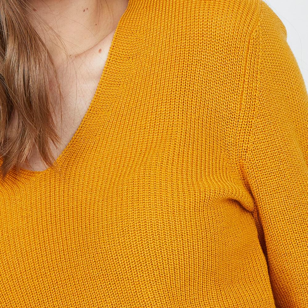 Sweater Liso Cuello V Mujer Kimera image number 3.0