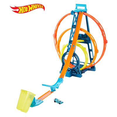 Autopista De Juego Hotwheels Track Builder Kit Triple Loop