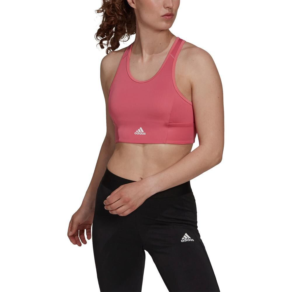 Peto Deportivo Mujer Adidas 3-stripes Padded Sports Crop Top image number 0.0