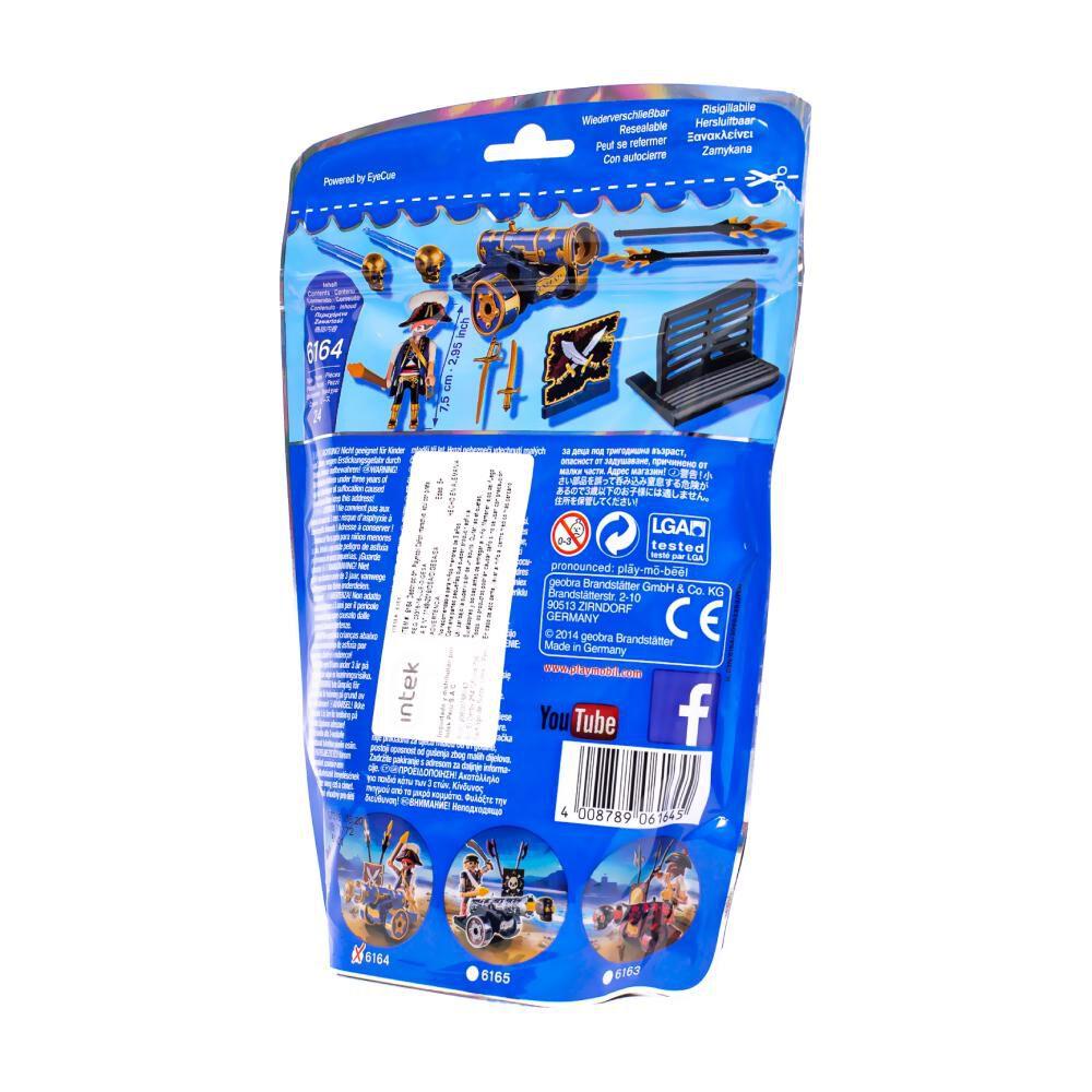 Figura De Acción Playmobil Cañón Interactivo Azul Con Pirata image number 4.0
