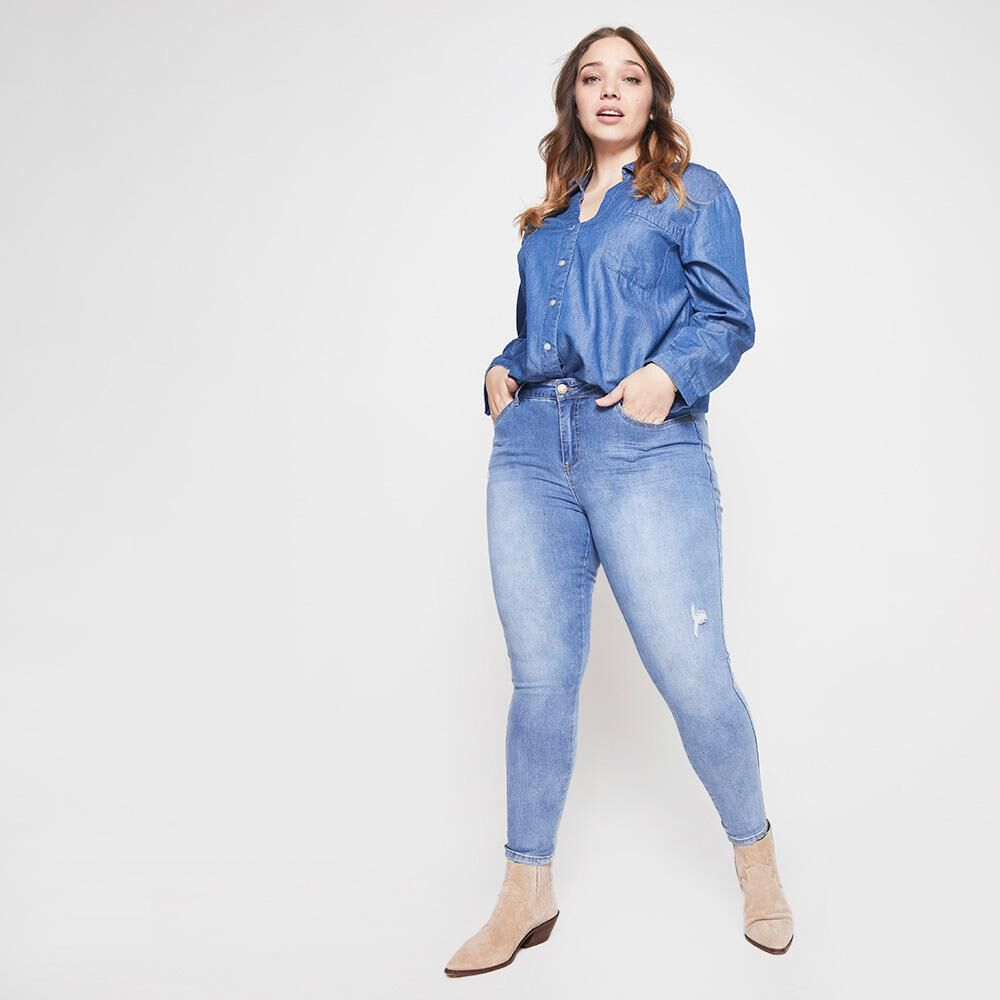 Jeans Mujer Tiro Medio Skinny Sexy Large image number 4.0