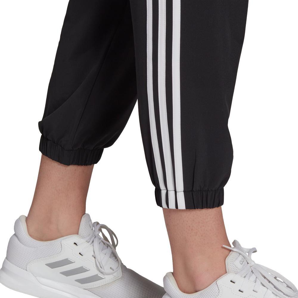 Pantalón De Buzo Mujer Adidas Essentials Woven 3-stripes 7/8 image number 4.0