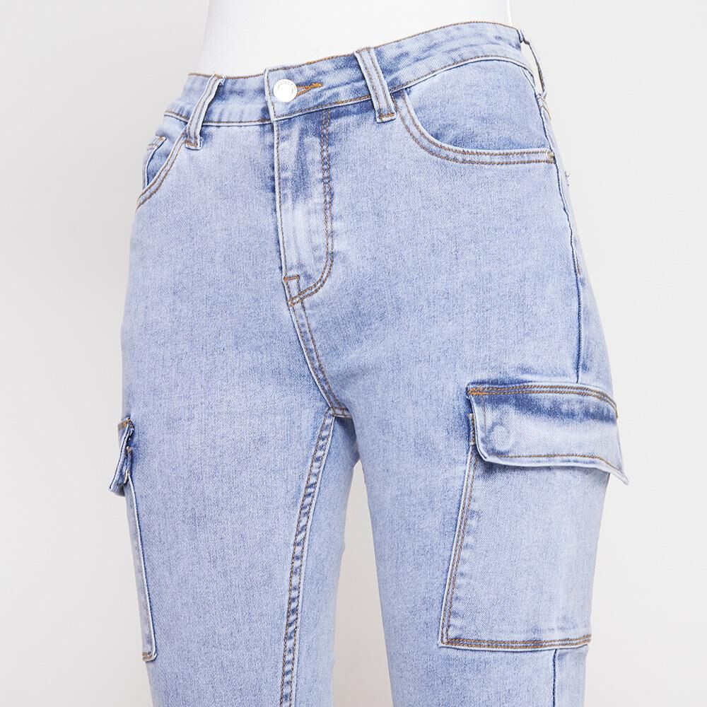 Jeans Mujer Tiro Alto Cargo Rolly Go image number 3.0