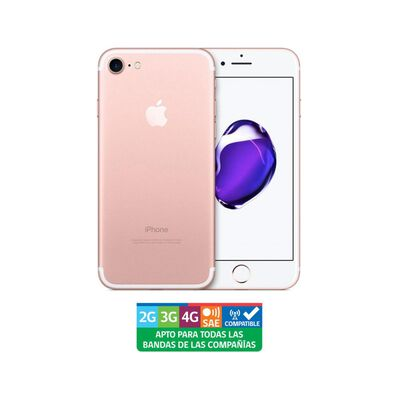 Iphone Apple 7 Oro Rosa Reacondicionado / 32 Gb / Liberado