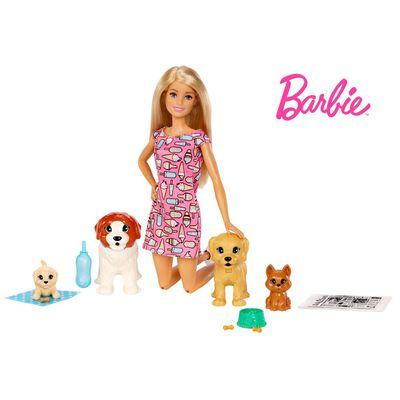 Muñeca Barbie Guardería De Perritos