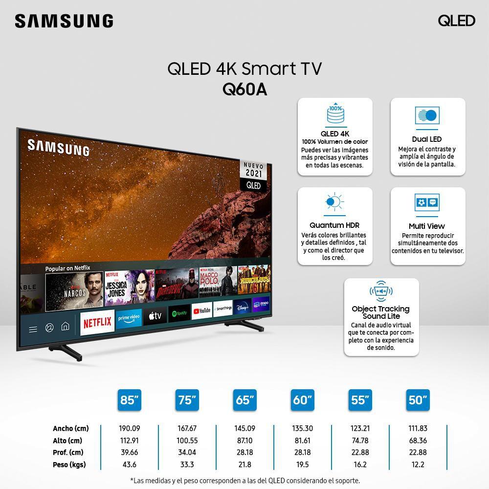 """Qled Samsung QN50Q60 / 50"""" / Ultra Hd / 4k / Smart Tv image number 2.0"""