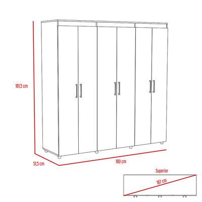 Clóset Tuhome Amatista / 6 Puertas / 2 Cajones