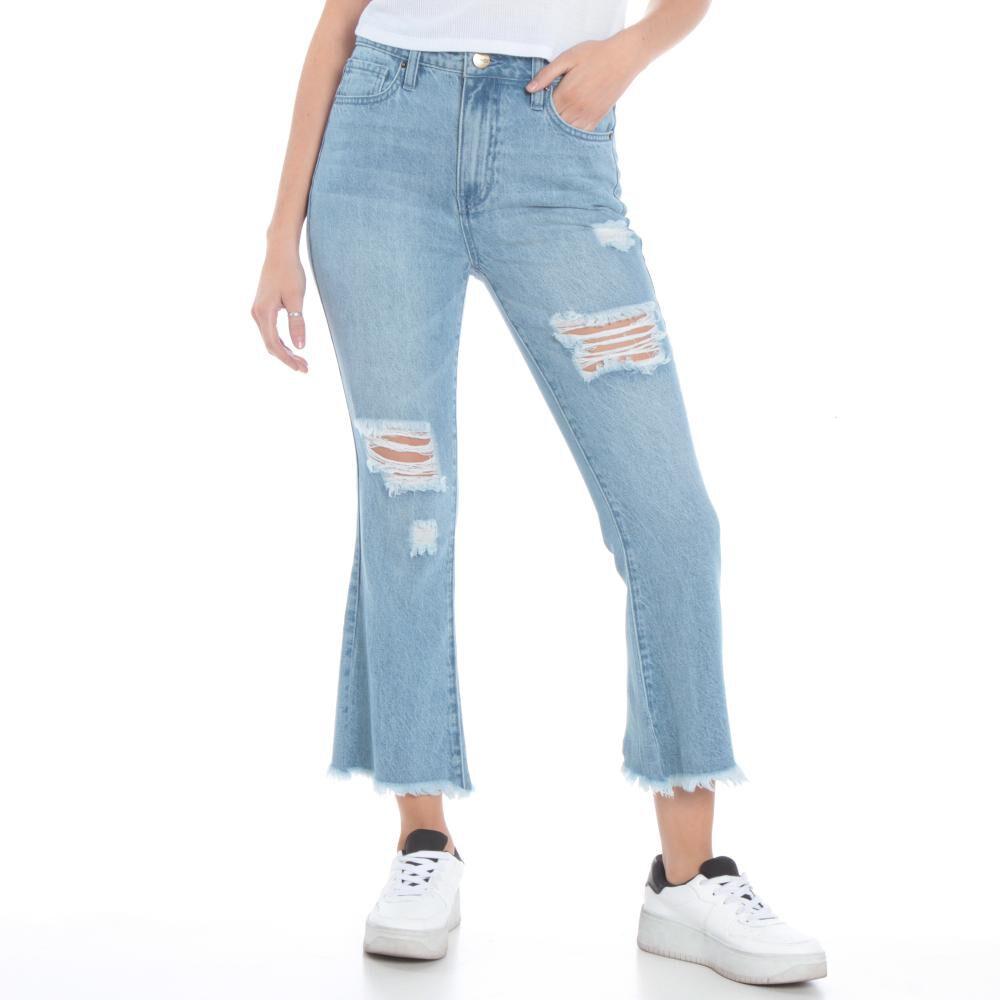 Jeans Mujer Crop Flare Wados image number 0.0