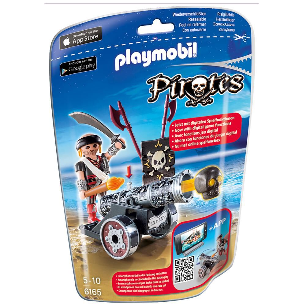 Figura De Acción Playmobil Cañón Interactivo Negro Con Corsario image number 1.0