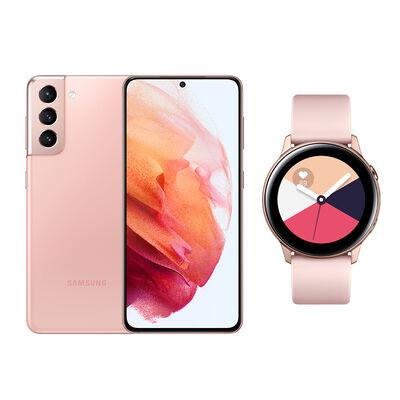 Smartphone Samsung S21 Phantom Pink + Galaxy Active Gold