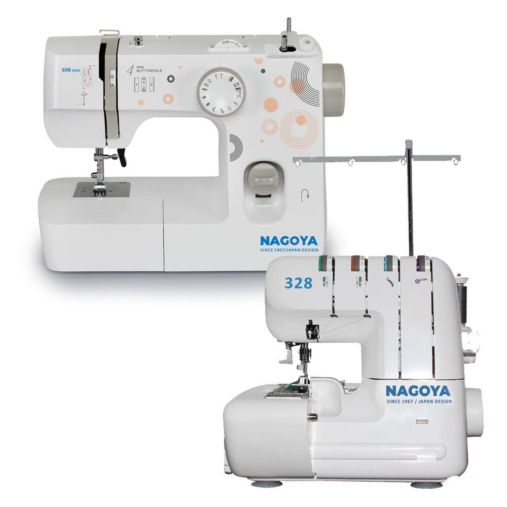 Combo Máquina De Coser Mas Overlock Nagoya 698 + Overlock 328 image number 0.0