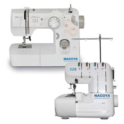 Combo Máquina De Coser Mas Overlock Nagoya 698 + Overlock 328