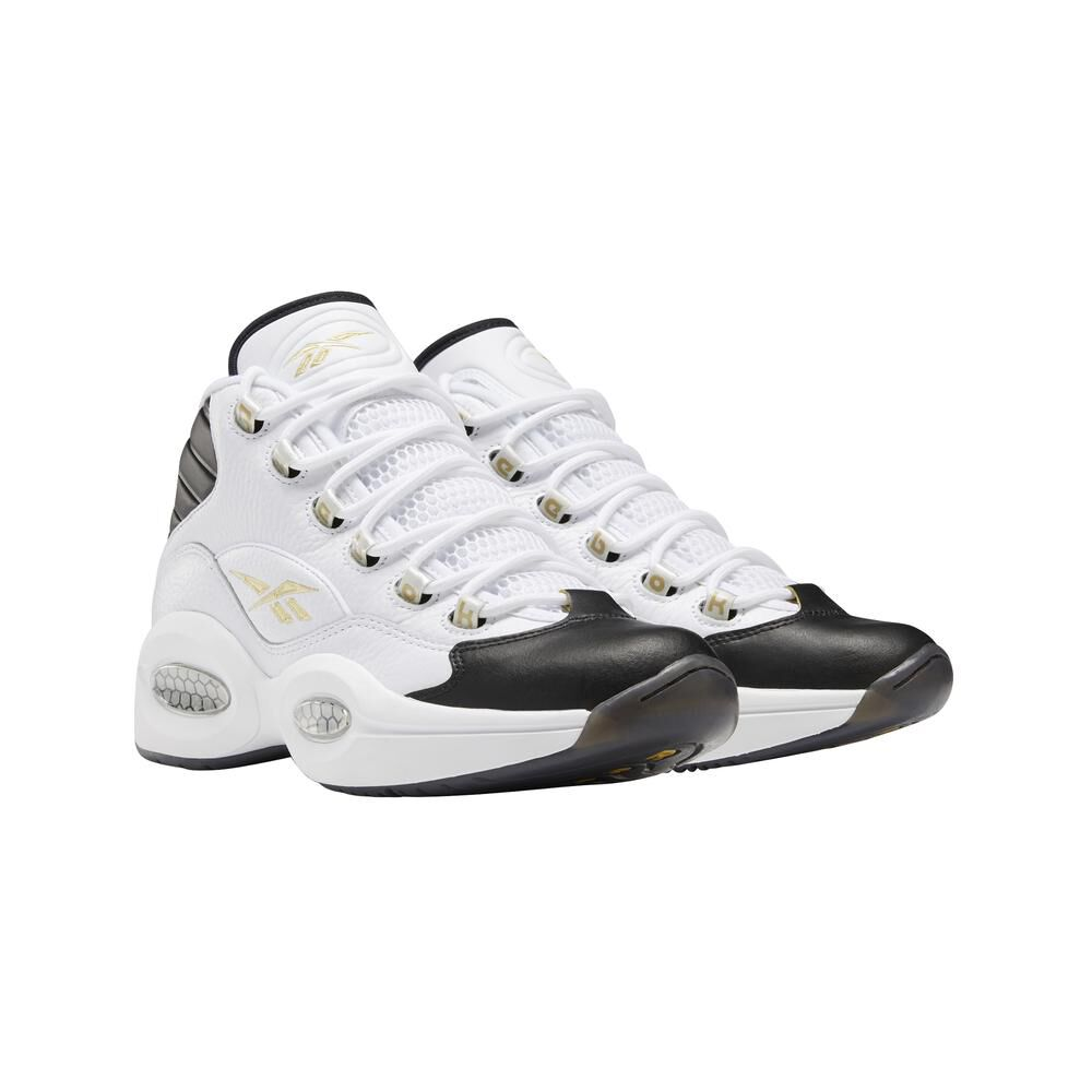 Zapatilla Basketball Hombre Reebok Question Mid Black Toe image number 0.0