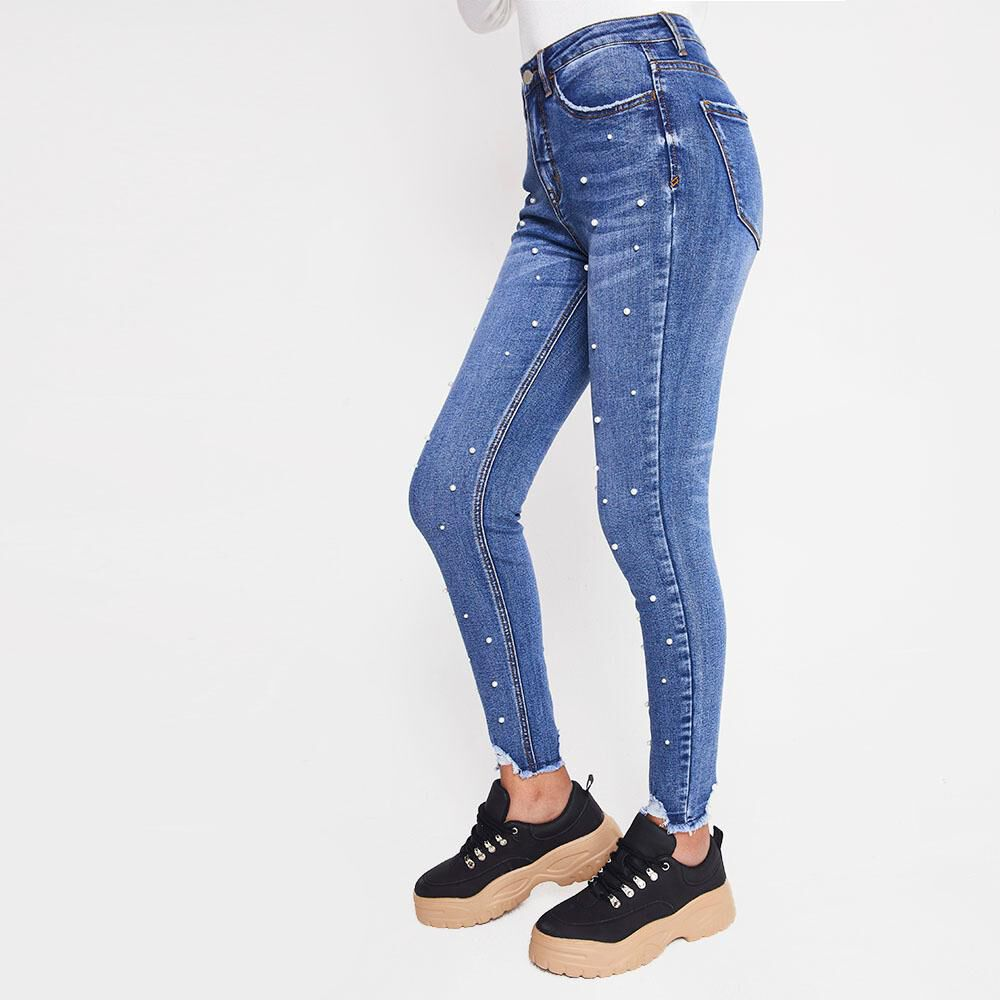 Jeans Mujer Tiro Medio Skinny Rolly go image number 4.0
