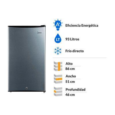 Frigobar Midea Frío Directo MFB-930S121LN / 93 Litros