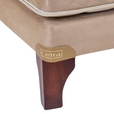 Cama Europea Celta Bamboo / 1 Plaza / Base Normal  + Textil
