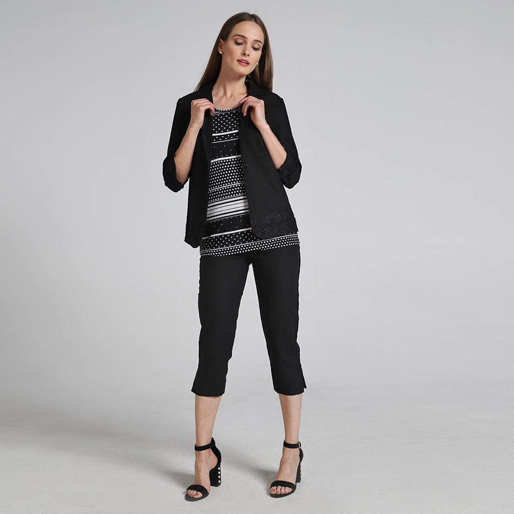 Blazer Lino Aplc Macrame Mujer Lesage image number 0.0
