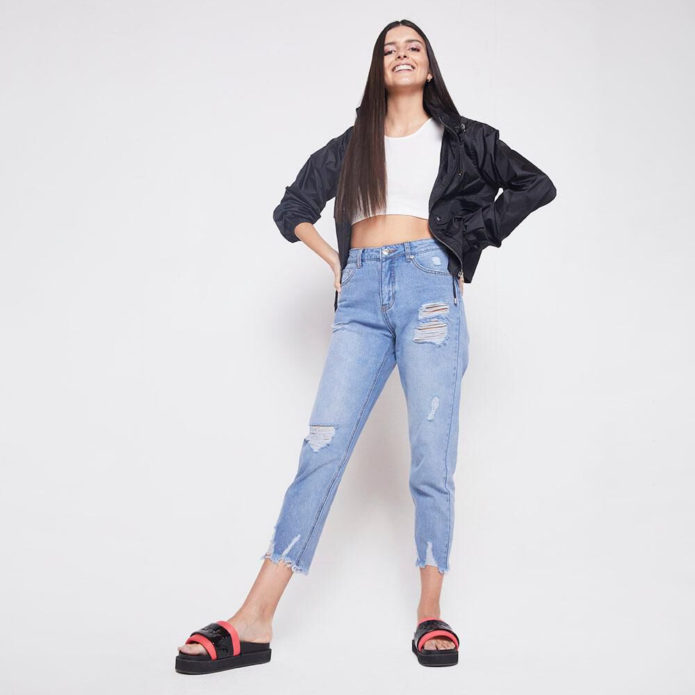 Jeans Tiro Alto Mom Mujer Freedom image number 1.0