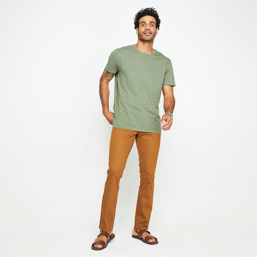 Pantalón Color Tiro Medio Regular Hombre Az Black image number 1.0
