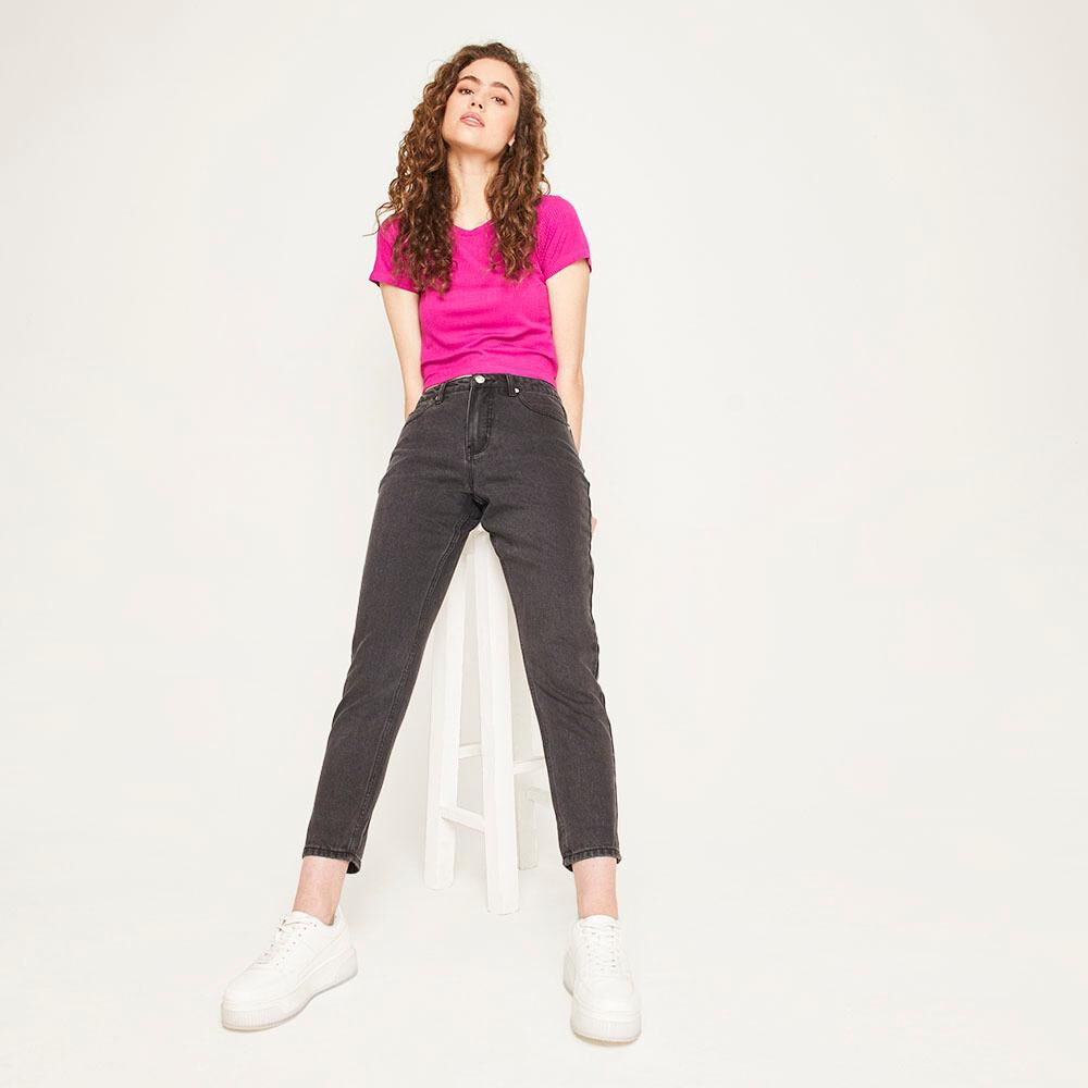 Jeans Tiro Alto Mom Mujer Freedom image number 5.0