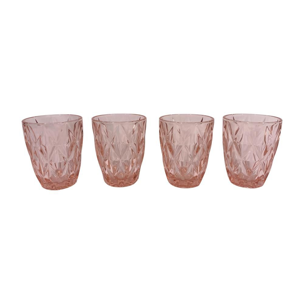 Set De Vasos Belle Noite Pink / 4 Piezas image number 0.0