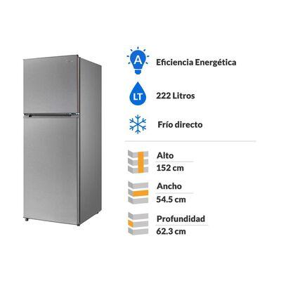 Refrigerador Top Freezer Midea MRFS-2260S294FWEN / No Frost / 222 Litros