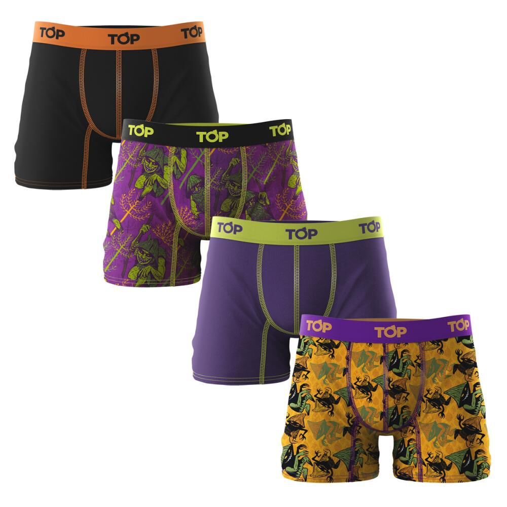 Pack Boxer Top Mitos / 4 Unidades image number 0.0