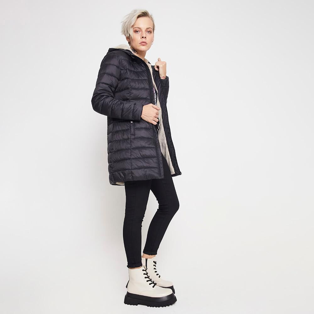 Parka Larga Forro Chiporro Mujer Rolly Go image number 4.0