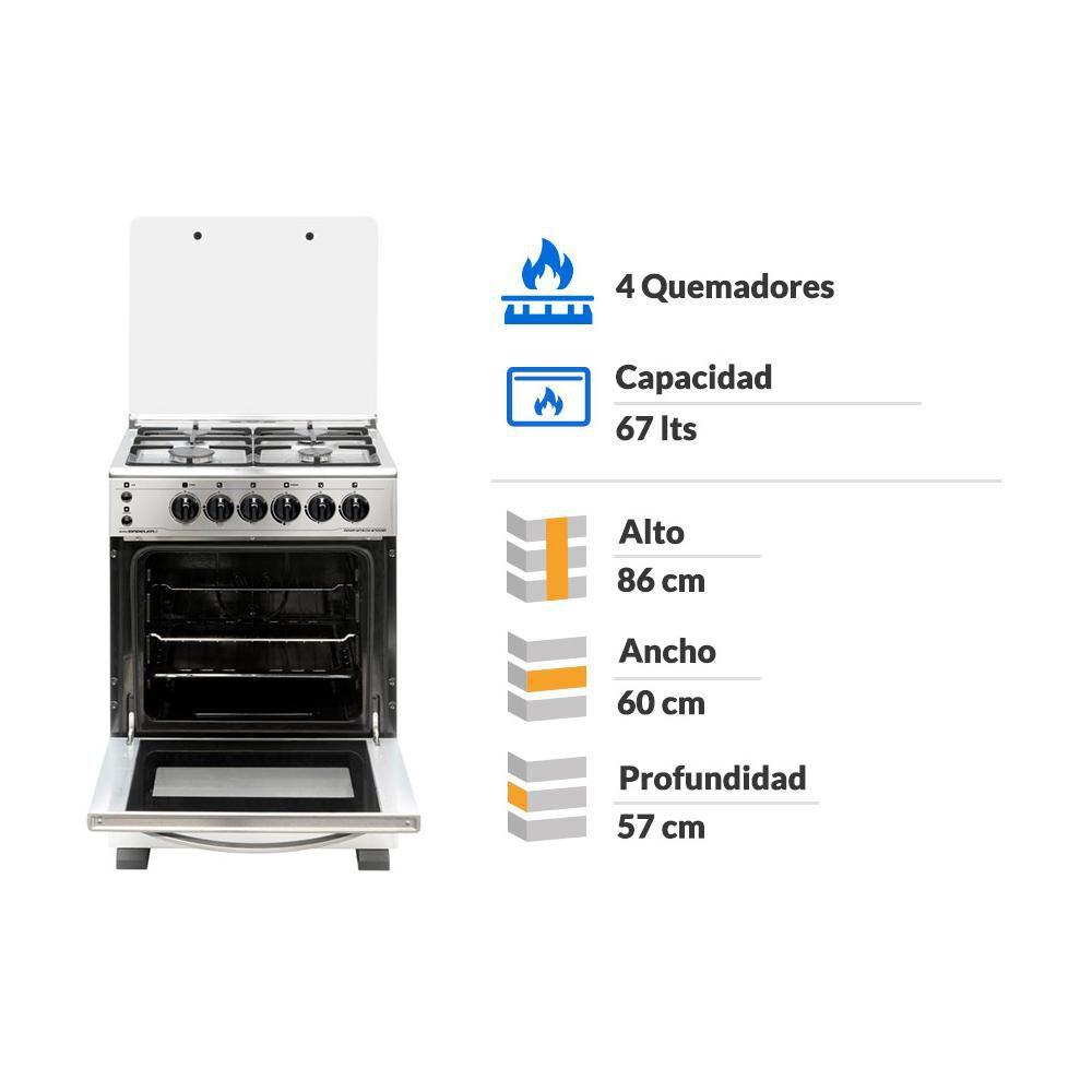 Cocina Sindelen CH-6700IN / 4 Quemadores image number 1.0