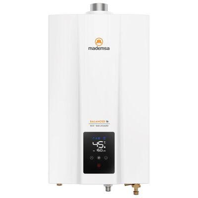 Calefont Mademsa Balanced 16 Eco Gl / 16 Litros / Gas Licuado