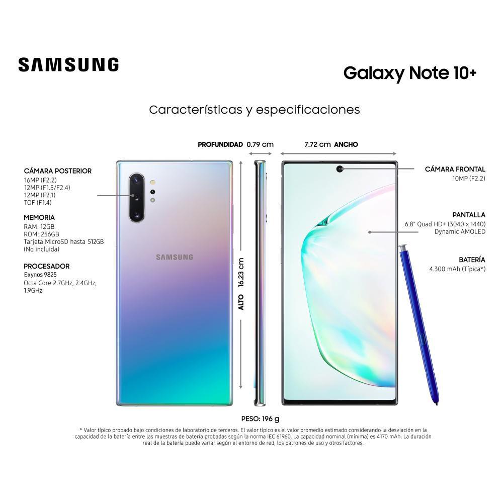 Smartphone Samsung Galaxy Note 10+ 256 Gb - Liberado image number 3.0