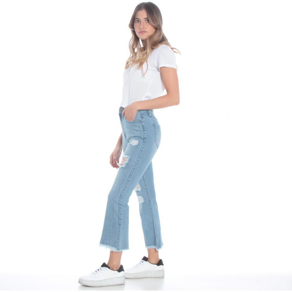 Jeans Mujer Crop Flare Wados image number 1.0