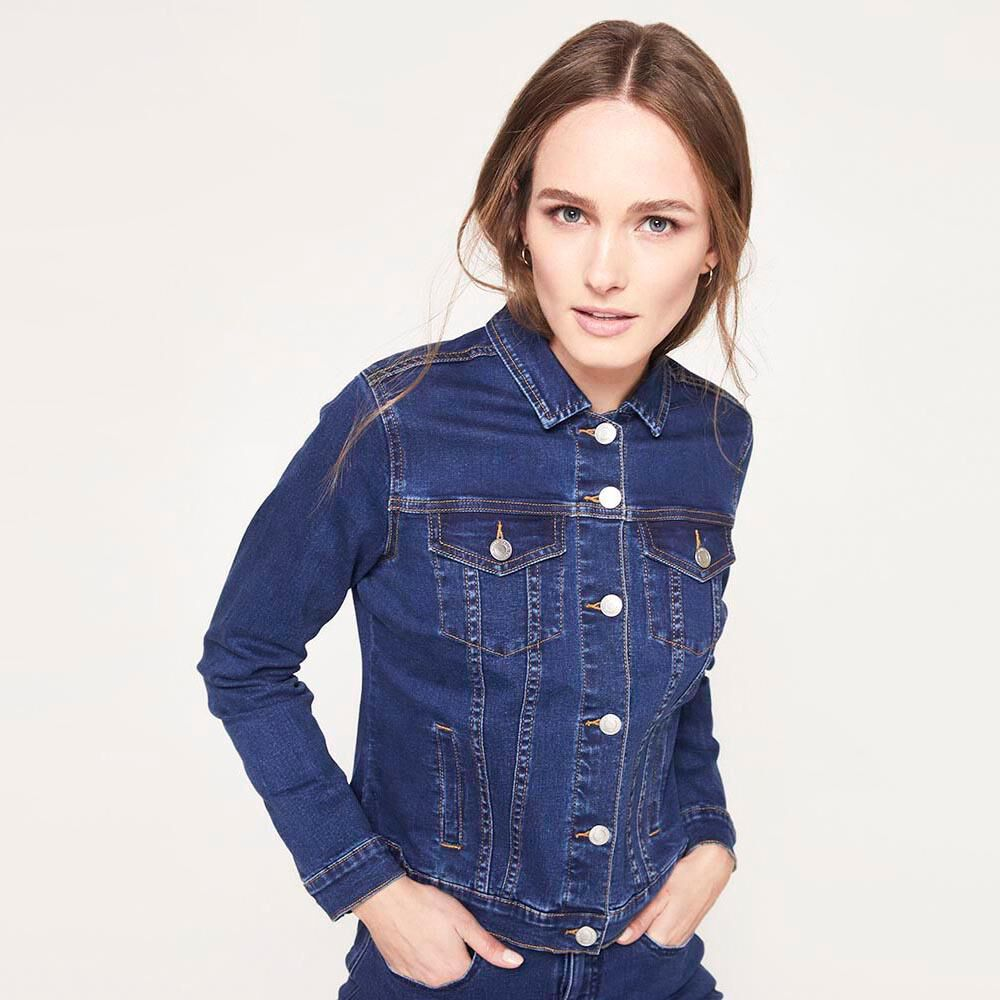 Chaqueta Jeans Mujer Kimera image number 5.0