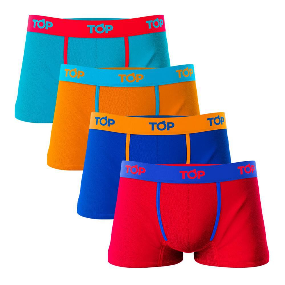 Pack Boxer Hombre Top / 4 Unidades image number 0.0